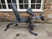 Bodytec high performance leg and bi-cep weight machine. Very good condition.