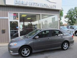 2004 Toyota Corolla Sport Sunroof 5 spd manual trans only $4995