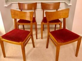 G Plan Retro Dining Chairs X 4