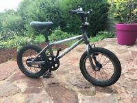 Islabike CNOC 14 child's bike, black & silver, with reverse pedal back brake