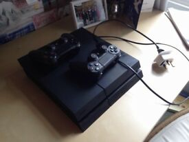 Playstation 4 w/ 2 controllers