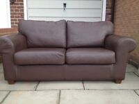 2 seater Leather Sofa in brown