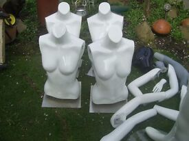 Job lot Mannequins and extra pieces all in the pictures