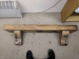 Solid oak fire mantle