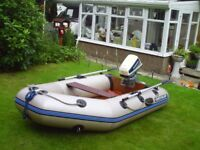 Inflatable Boat. 2.7 M Quicksilver with 8HP Evinrude