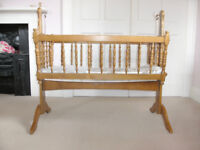 Baby Swing Crib - Wooden - Infant Cradle - Rocking Cot