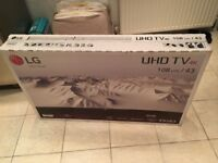 BRAND NEW LG 43 INCH 4K ULTRA HD SMART LED HDR TV. £300 NO OFFERS. CAN DELIVER