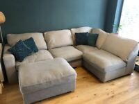 Large grey corner sofa excellent condition