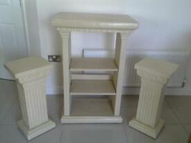 stone resin effect unit and 2 pillars