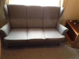 High backed fabric 3 Seater Sofa