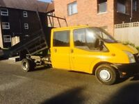 57 plate ford transit crew cab tipper 6 speed