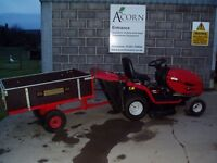 Used MTD ride on mower with trailer