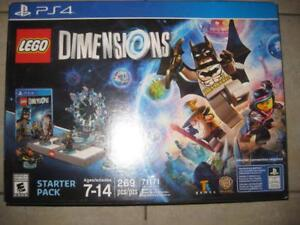 LEGO Dimensions Starter Pack for Sony Playstation PS4. 269 Pieces. Batman. Gandalf. Wyldstyle. Lego Toy Pad. Fun Game