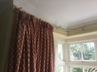 Curtains: bay window and window