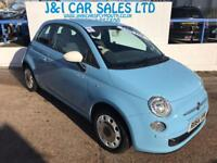 FIAT 500 1.2 COLOUR THERAPY 3d 69 BHP A GREAT EXAMPLE INSID (blue) 2014