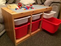 @@FABULOUS SOLID PINE LEGO/STORAGE/PLAY TABLE@@
