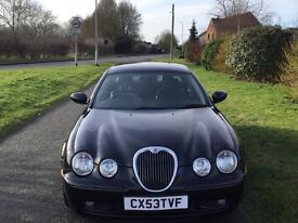 Jaguar 2.5 V6 S Type Super 210 BHP Only 67k miles superb condition Black leather int