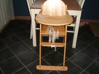 East Coast Folding Solid Wood Highchair