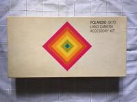 Vintage Polaroid sx-70 land camera accessory kit