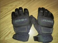 Dainese Waterproof Motorcycle Gloves Size 8.5 'Clutch Evo Dry' Knuckle Armour