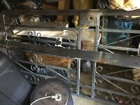 Wrought iron security gate with frame