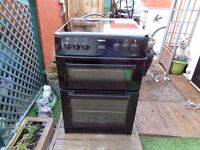 beko ceramic electric cooker 60 cm double oven like new