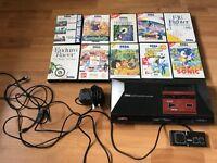 Sega master system 1 console & 13 games