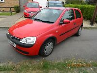 Vauxhall Corsa c comfort. 2001 model. 1.2 L in Red