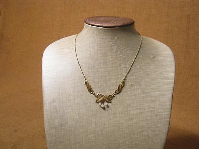 ███►altes schönes Collier mit 3 kleinen Perlen -- um 1950
