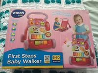 Vtech first steps baby walker in pink brand new in box
