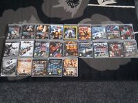 PS3 Console 2x Wireless controllers & 23 games collect ml5