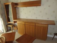 Danish Oak sideboard & side tables