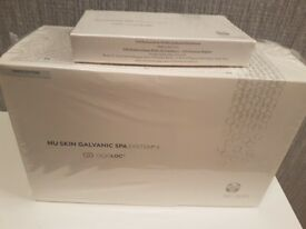 Galvanic face and body spa with gels