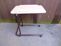 Wood Topped Adjustable Food Table Delivery Available £8
