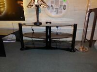 NEW BLACK GLASS TV STAND