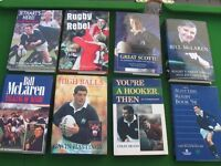 Selection of Rugby and Golf Books