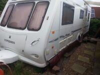 2003 Compass Rallye 635 twin wheel caravan