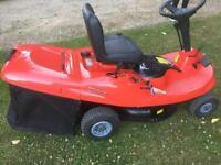 Mount field ride on mower