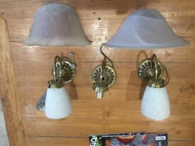 Victorian style glass wall lights