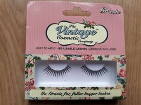 NEW False Re-usable Eyelashes, The Vintage Cosmetic Company