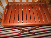 Butler Tray on Stand - Hard Wood