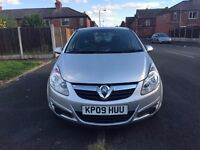09 plate - vauxhall corsa 1.2 - full service history - full year mot - clean car