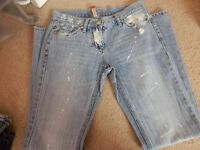 RIVER ISLAND JEANS SIZE 8 AS NEW