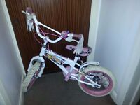 GIRLS BIKE / BICYCLE PINK & WHITE