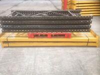 5 bay run of link pallet racking( storage , industrial shelving )