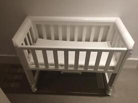 John Lewis Troll Bedside Crib in good condition
