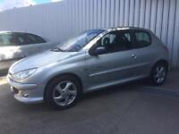 54 Peugeot 206 XSi 1.6 Quick Silver 3dr Hatchback - Alloys - Sport Seats - SPARES or REPAIRS