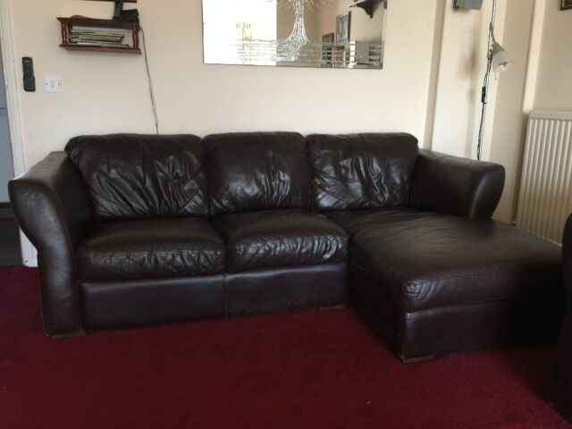 Used Burgandy Leather Lounger Sofa made by Sofitalia | in Didcot,  Oxfordshire | Gumtree
