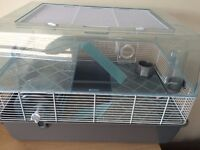 Hamster cage large 2 storey with outer tunnel and accessories
