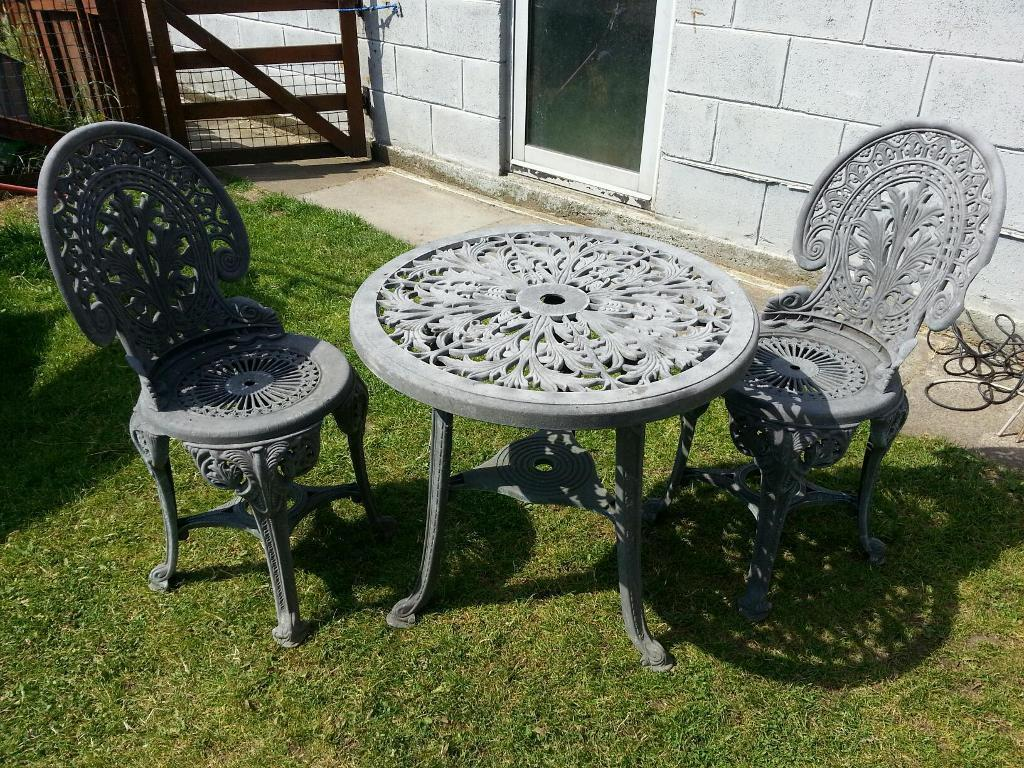 2 Seater Bistro Set Outdoor Garden Furniture Patio Table Chairs Seat Plastic